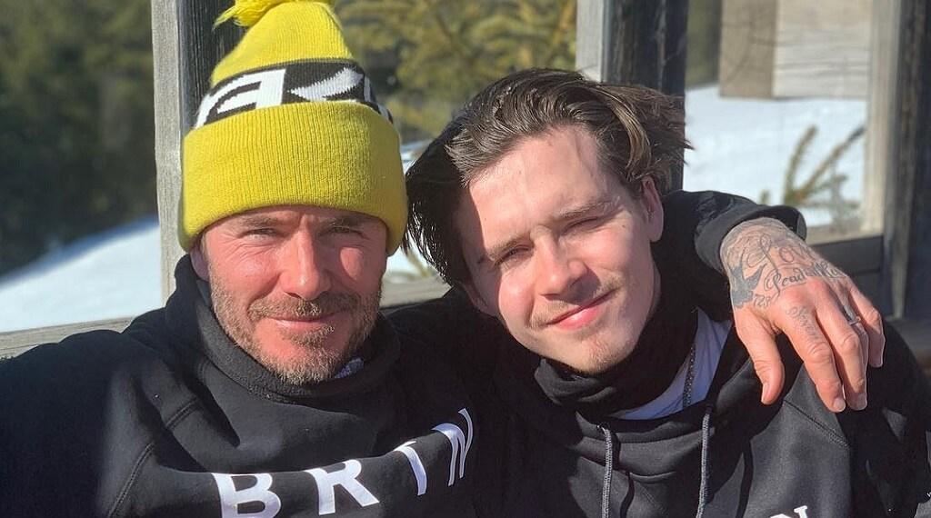 David Beckham ailesiyle Fransız Alpleri'nde kayak tatili yaptı