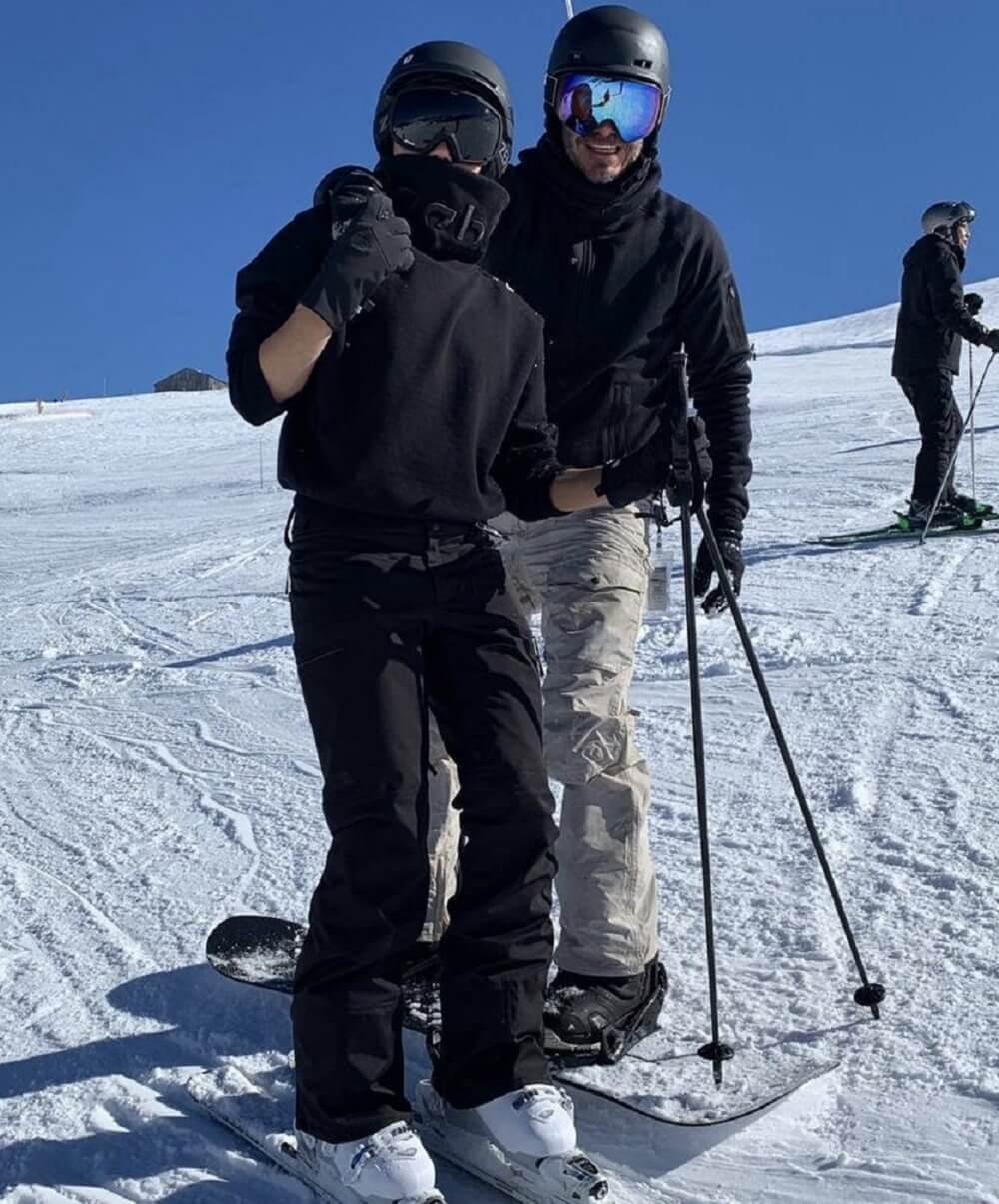 Victoria ve Daivid Beckham Sanit Gervais'te kayak yaptı.