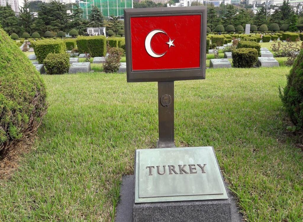 Busan Şehitliği'ndeki Türk Askerler