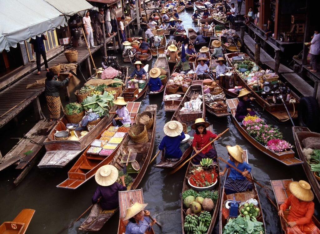 Bangkok Su Pazarları